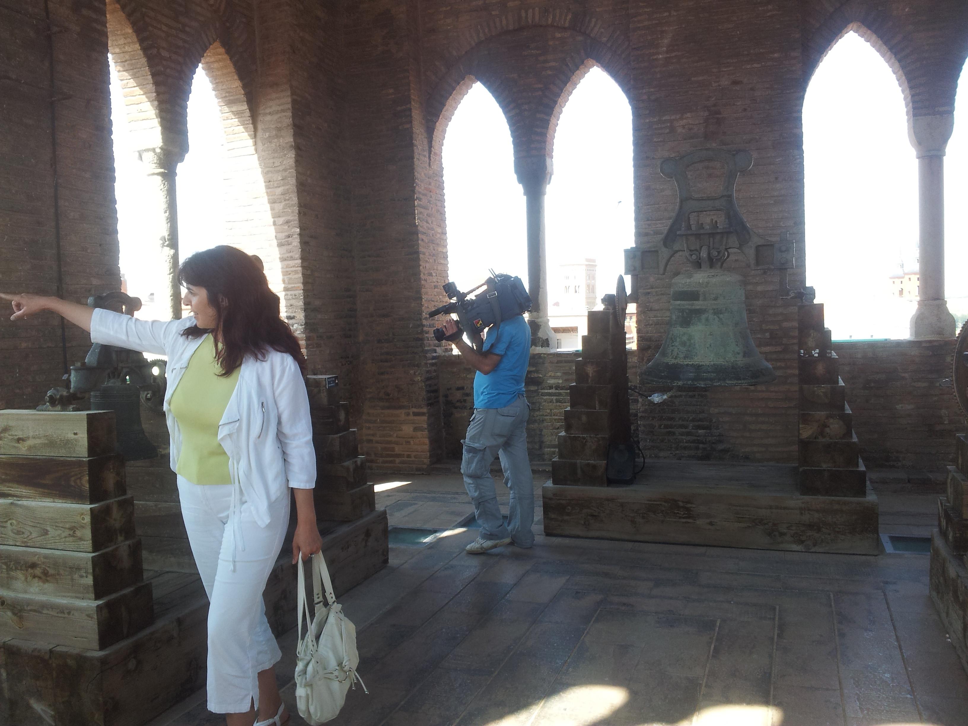 Aragón en Abierto: Reportaje de la visita guiada de Conexión a la Torre del Salvador