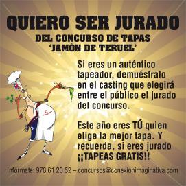 Casting para ser JURADO POPULAR en el X Concurso de Tapas de Jamón de Teruel