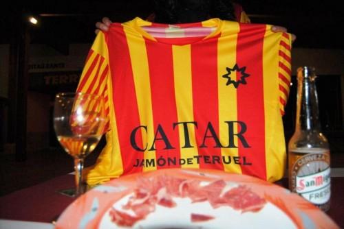 La camiseta «Catar Jamón de Teruel» se cuela en la Entrega de Premios a las Mejores Tapas 2013