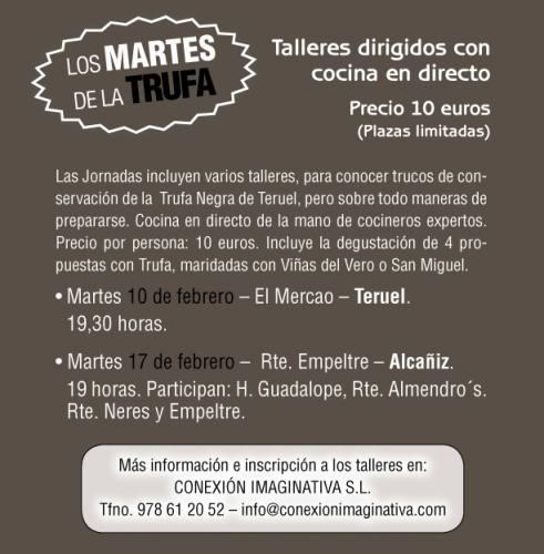 Taller de Trufa con cocina en directo en el restaurante  «El Mercao»