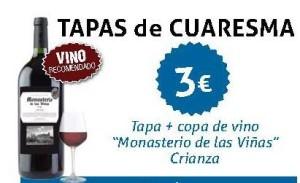 Tapas + vino 3 euros