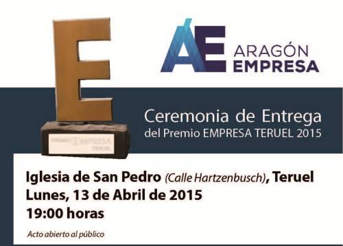 Nueva edición del Premio Empresa Teruel 2015