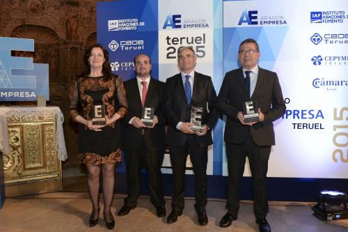 Cereales Teruel, Spain Rubber, Fundación Bodas de Isabel y Francisco Hernández, galardonados en el Premio Empresa Teruel 2015