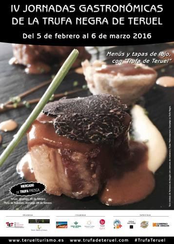 Imagen del folleto de las IV Jornadas Gastronómicas de la Trufa Negra de Teruel