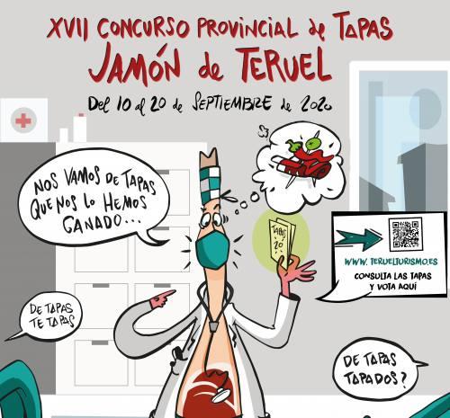 ¡De tapas…te tapas! Slogan del Concurso de Tapas Jamón de Teruel 2020