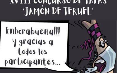 Un total de 12 tapas, pasan a la final de Concurso «Jamón de Teruel»