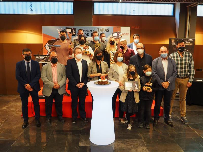 Café Bar Las Vegas de Utrillas y Pura Cepa Vermú de Teruel ganadores del Concurso de Tapas Jamón de Teruel 2021